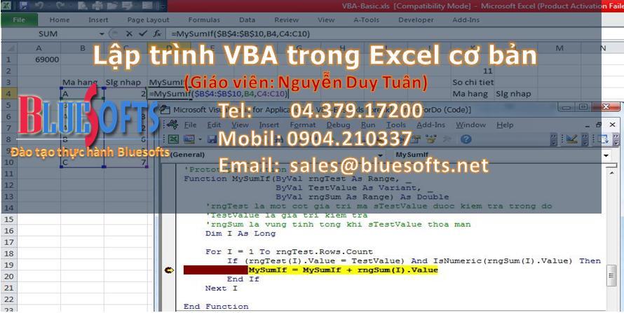 lập trình VBA trong excel cơ bản