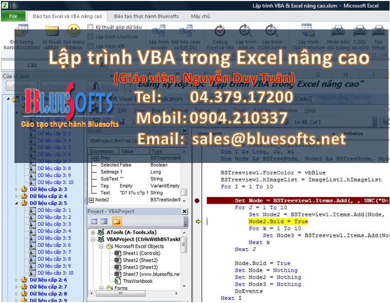 VBA trong Excel nâng cao LEVEL 1