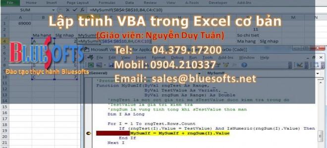 Đào tạo Lập trình VBA trong Excel Cơ Bản