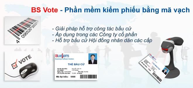 Phần mềm kiểm phiếu BS Vote